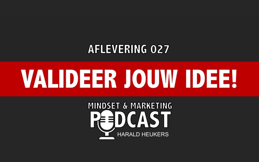 Podcast 027 – Hoe Valideer Je Jouw Business Idee?